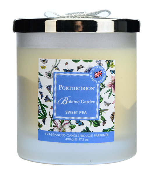Portmeirion Botanic Garden Fragrance Sweet Pea 2 Wick Glass Candle