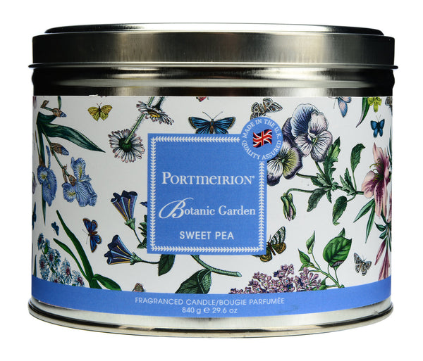 Portmeirion Botanic Garden Fragrance Sweet Pea3 Wick Tin Candle