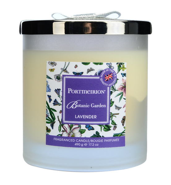 Portmeirion Botanic Garden Fragrance Lavender 2 Wick Glass Candle