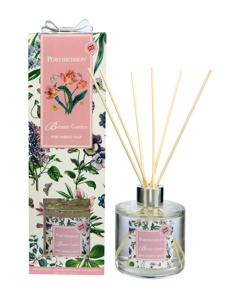 Portmeirion Botanic Garden Fragrance Pink Parrot Tulip Reed Diffuser 0.20L