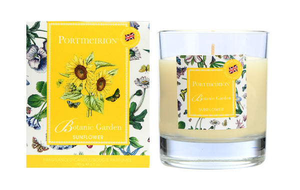 Portmeirion Botanic Garden Fragrance Sunflower Glass Candle