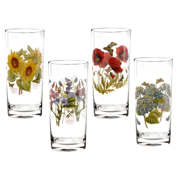 Portmeirion Botanic Garden Assorted Highball Tumbler 0.42L (Set of 4)