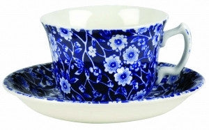 Burleigh Blue Calico Teacup Saucer (Saucer Only)