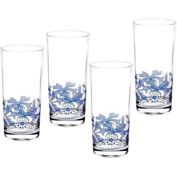 Spode Blue Italian Highball Tumbler 0.42L (Set of 4)
