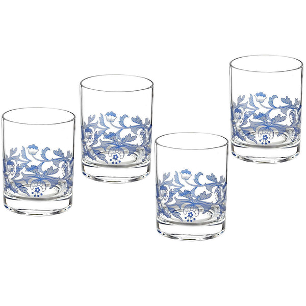 Spode Blue Italian Old Fashioned Tumbler 0.45L (Set of 4)