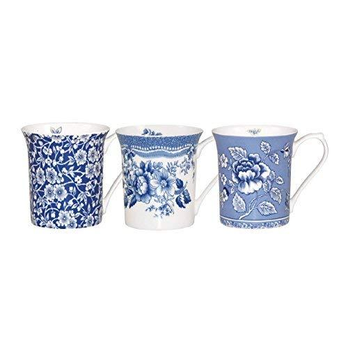 Churchill China Blue Story Pack of Pair Mugs 0.22L (Assorted design)