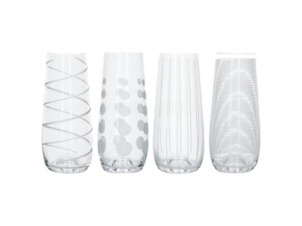 Mikasa Cheers Stemless Flutes (Set of 4)