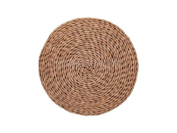 Mikasa Brown Grass Round Woven Mats (Set of 2)