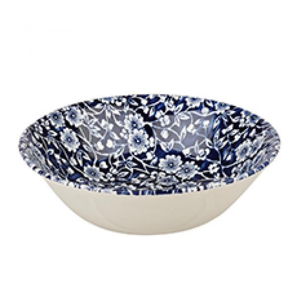 Churchill China Victorian Calico Blue Cereal Bowl 15.5cm