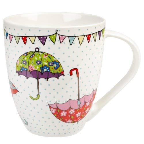 Churchill China Caravan Festival Brollies Mug 0.50L (Set Of 6)