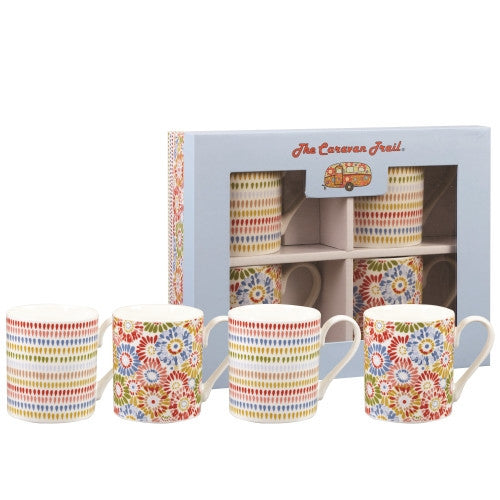 Churchill China The Caravan Trail Harbour Sands Larch Mug (Set of 4)
