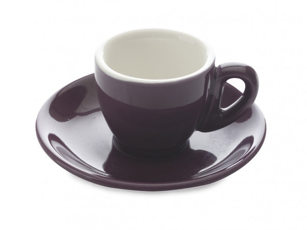Maxwell and Williams Cafe Culture Porpora Espresso Cup and Saucer 70ml