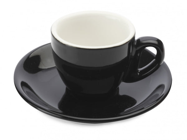 Maxwell and Williams Cafe Culture Nero Espresso Cup and Saucer 70ml