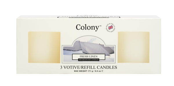 Wax Lyrical Fresh Linen Votive Refill (Box of 3)
