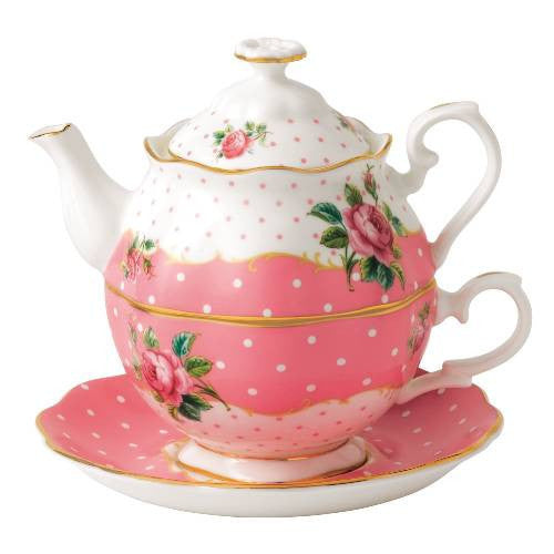 Royal Albert Cheeky Pink Vintage Tea for One