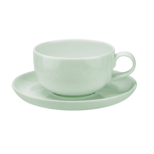 Portmeirion Choices Green Coffee Cup and Saucer (Pair) 0.25L