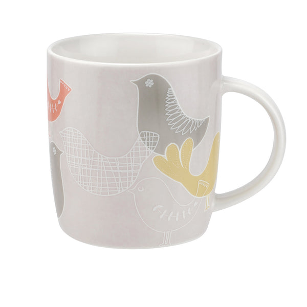 Portmeirion Catherine Lansfield Scandi Bird Sketch Mug 0.40L