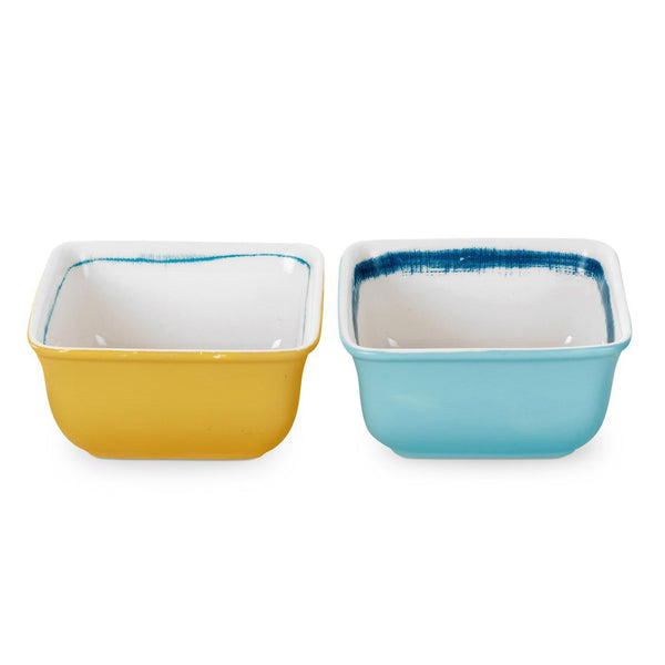 Portmeirion Coast Square Dip Bowl 10cm (Pair)