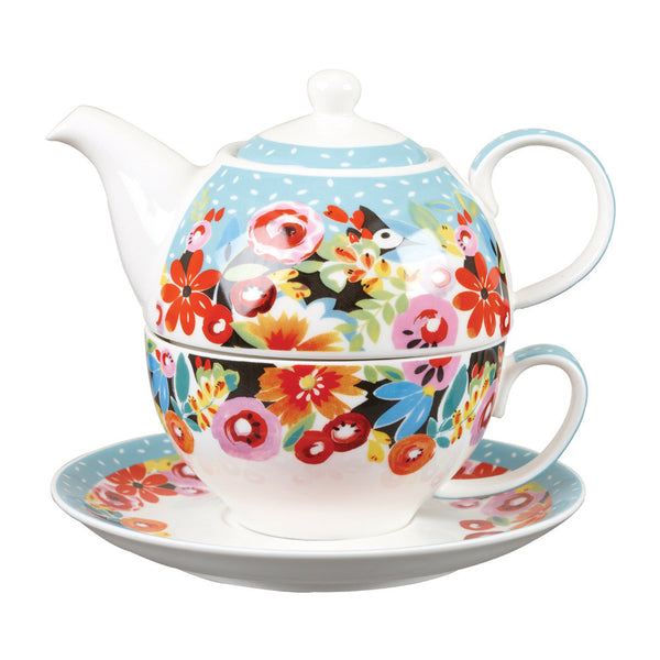 Churchill China Collier Campbell Flowerpatch Teapot for One