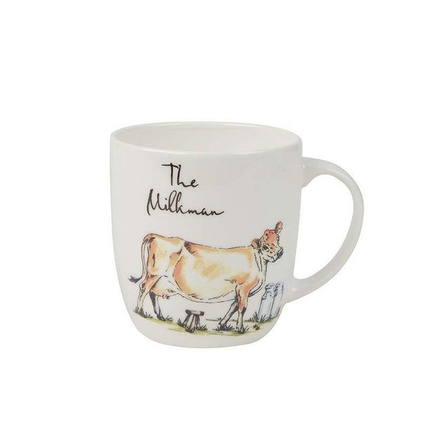 Churchill China Country Pursuits Olive The Milkman Mug 0.30L
