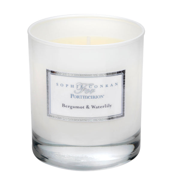 Portmeirion Sophie Conran Fragrance Bergamot and Water Lily Glass Candle