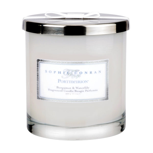 Portmeirion Sophie Conran Fragrance Bergamot and Water Lily 2 Wick Glass Candle