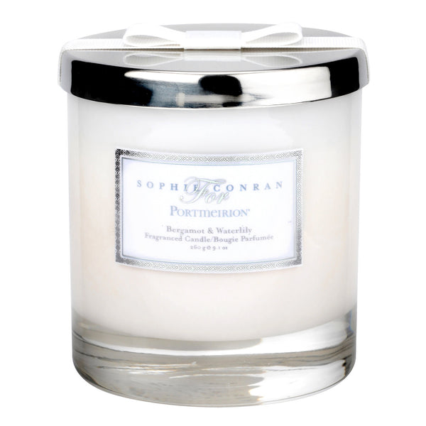 Portmeirion Sophie Conran Fragrance Bergamot and Water Lily Glass Candle 0.38L