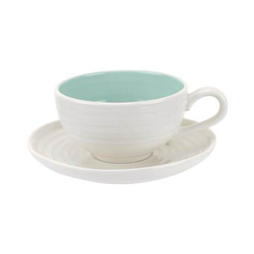 Portmeirion Sophie Conran Celadon Tea Cup And Saucer 0.20L