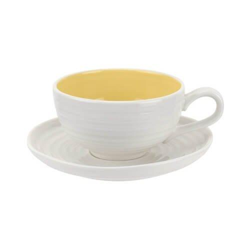 Portmeirion Sophie Conran Sunshine Tea Cup And Saucer 0.20L