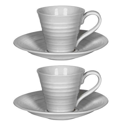 Portmeirion Sophie Conran Espresso Cup And Saucer 0.08L (Set of 2)