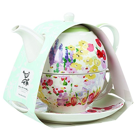 Churchill China Collier Campbell Painted Garden Teapot For One