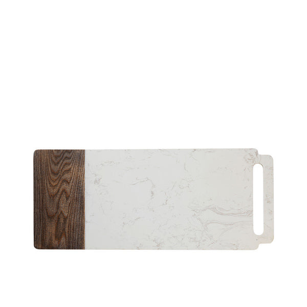 Maxwell and Williams Elemental Marble and Ash Handled Board 60cm by 25cm