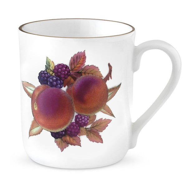 Royal Worcester Evesham Gold Peach and Blackberry Mug 0.34L (Set of 4)