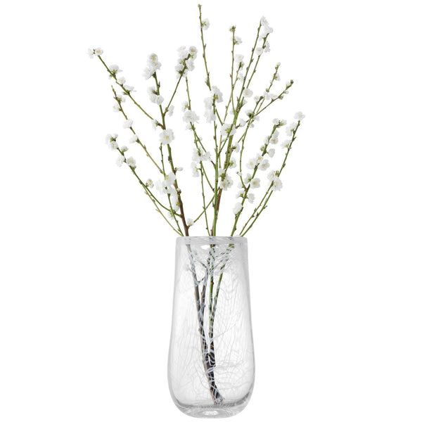 LSA Cotton White Vase 38cm