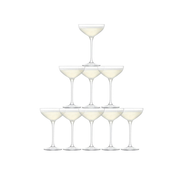 LSA Tower Clear Champagne Set (Set of 10)