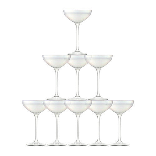 LSA Tower Mother of Pearl Champagne Set (Set of 10)
