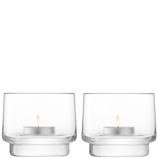 LSA City Tealight Holder 7cm (Pair)