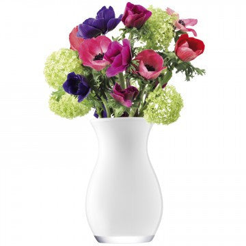 LSA Flower Colour White Posy Vase 20cm