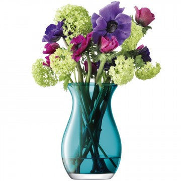 LSA Flower Colour Peacock Posy Vase 20cm