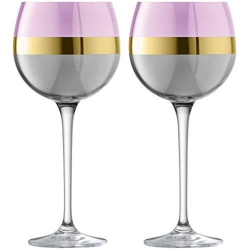 LSA Bangle Rose Balloon Glass 0.52L (Set of 2)