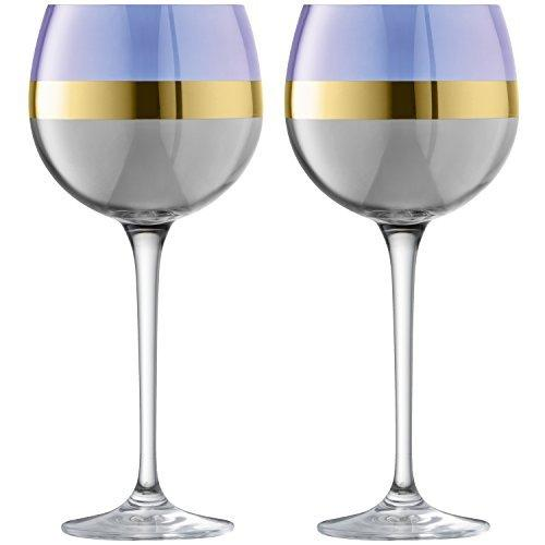 LSA Bangle Blueberry Balloon Glass 0.52L (Set of 2)
