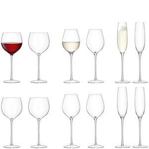 LSA Aura Wine/Champagne Assorted Glasses 12 Pieces Set