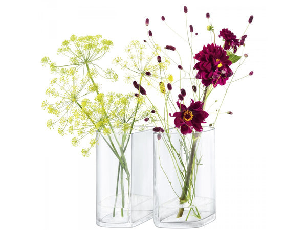 LSA Echo Vase 12cm by 12cm (Set of 2)
