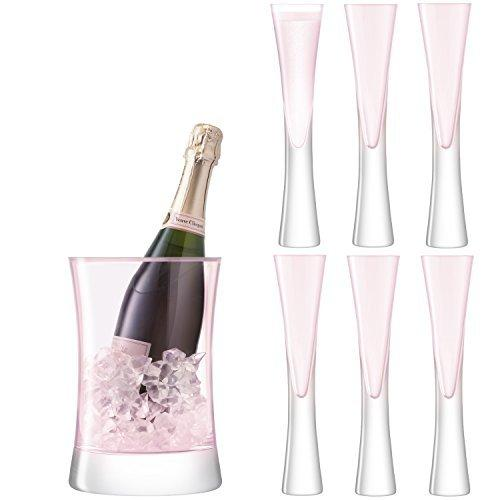 LSA Moya Blush Serving Ice Bucket and 6 Glasses Set