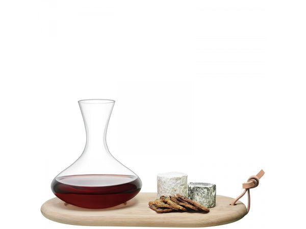 LSA Wine Carafe with Oak Cheese Board 1.4L