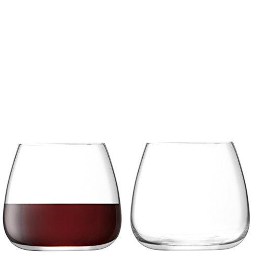 LSA Wine Culture Stemless Clear Wine Glass 385ml (Set of 2)