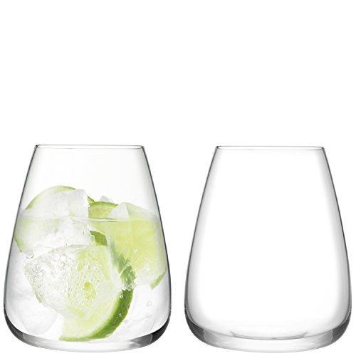 LSA Wine Culture Clear Water Glass 0.59L (Set of 2)