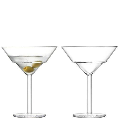 LSA Mixologist Cocktail Clear Martini Glass 0.23L (Set of 2)