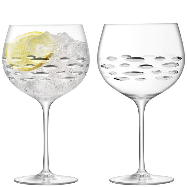 Lsa Gin Shoal Cut Baloon Glass 0.42L (Set of 2)
