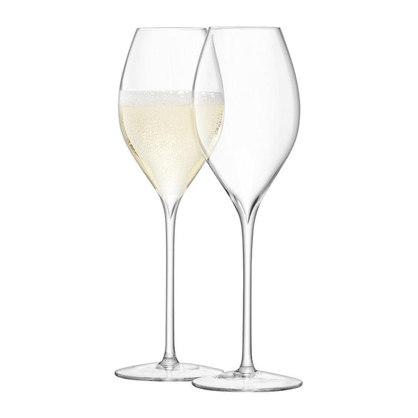 LSA Wine Clear Champagne Tulip Glass 370ml (Set of 2)